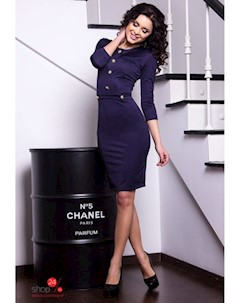 Платье цвет темно синий Charm