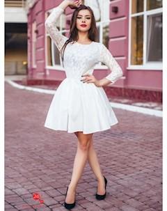 Платье цвет молочный Charm