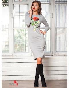 Платье цвет серый Charm