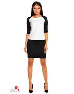 Платье цвет черный молочный Peperuna