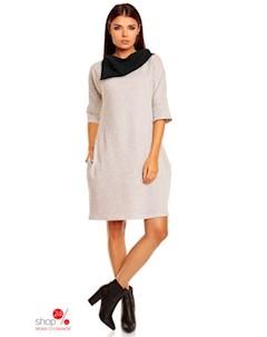 Платье цвет серый черный Peperuna