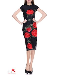 Платье цвет черный красный Kireya