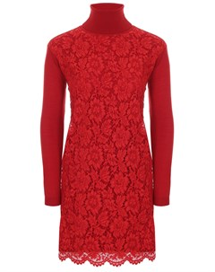 Платье с кружевом Valentino