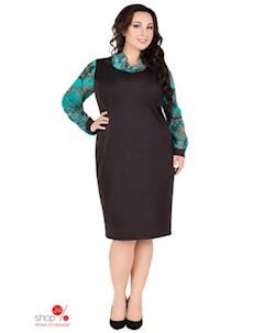 Платье цвет черный бирюзовый Darissa fashion