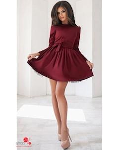 Платье цвет бордовый Podium