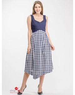 Платье цвет синий белый Personage