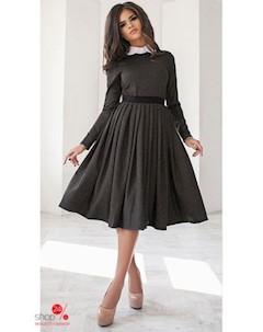 Платье цвет темно серый Podium