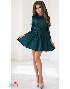 Платье цвет темно зеленый Podium