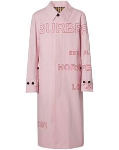 Пальто с принтом Horseferry Burberry