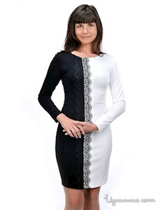 Платье цвет черный белый Petti dress