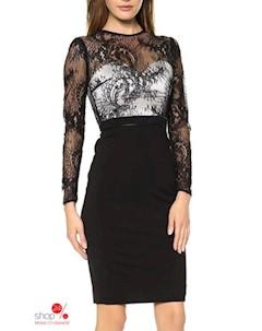 Платье цвет черный белый Flora luna