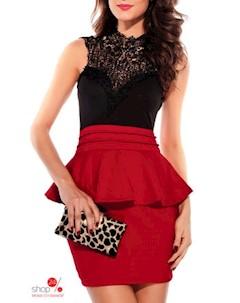 Платье цвет черный красный Flora luna