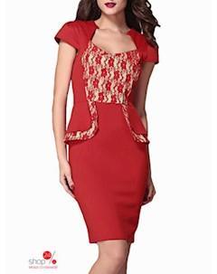 Платье цвет красный Flora luna