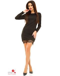 Платье цвет черный Brusnika
