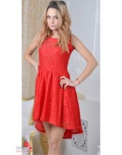 Платье цвет красный Million