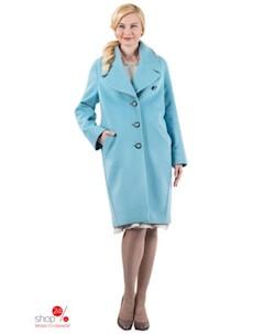 Пальто цвет голубой Синар