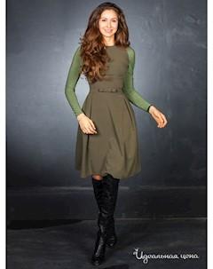 Платье цвет зеленый Elena fedel