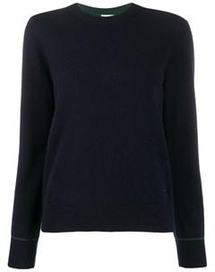 Кашемировый пуловер с контрастной строчкой Tory burch