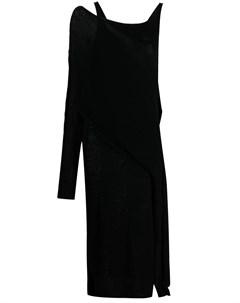 Трикотажное платье на одно плечо Almaz