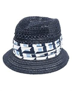 Шляпа федора с геометричным принтом Dolce&gabbana