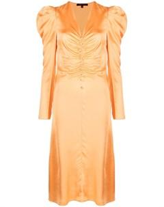 Платье с V образным вырезом и сборками Patrizia pepe