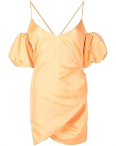 Плиссированное платье с абстрактным принтом Patrizia pepe