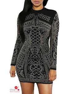 Платье цвет черный Flora luna