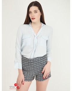 Блуза цвет голубой Mango