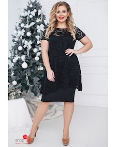 Комплект платье накидка цвет черный Oh my look