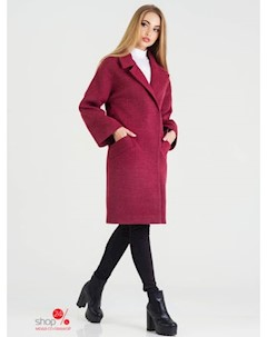 Пальто цвет бордовый Leo pride