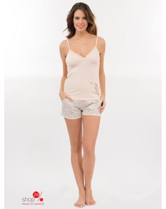 Пижама цвет белый розовый Hays