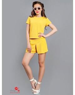 Костюм топ и шорты цвет желтый Charm