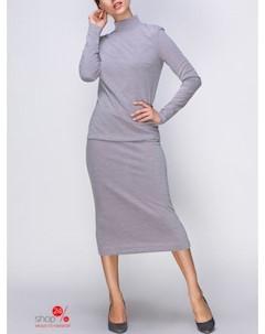 Комплект свитер юбка цвет серый Mariem