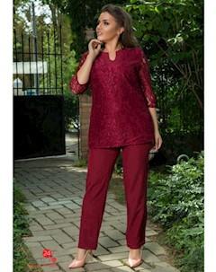 Костюм блуза брюки цвет бордовый Major