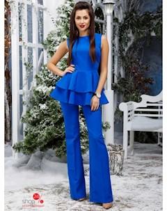 Костюм блуза брюки цвет ярко синий Wanted