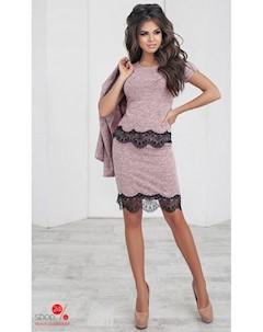 Костюм кардиган блуза юбка цвет светло розовый Oh my look