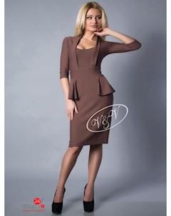 Платье цвет коричневый V & v
