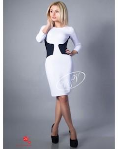 Платье V V цвет белый синий V & v