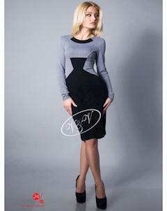 Платье цвет серый темно синий V & v