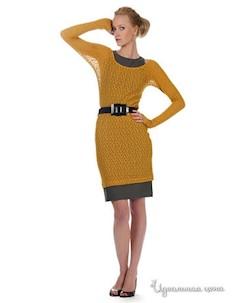 Платье цвет горчичный Artwizard