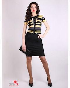 Платье цвет черный желтый Nicole & nicole