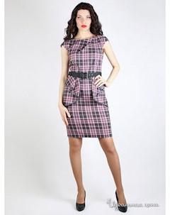 Платье цвет серый розовый Daloria