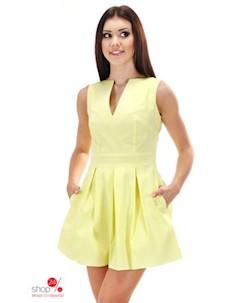 Платье цвет желтый Simmi