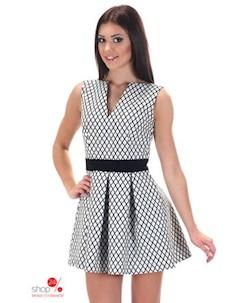 Платье цвет белый черный Simmi
