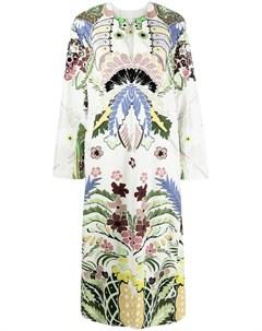 Платье с цветочной вышивкой Valentino