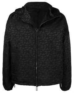 Куртка с капюшоном и монограммой Emporio armani