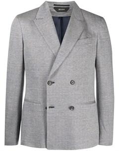 Двубортный пиджак с узором в елочку Z zegna