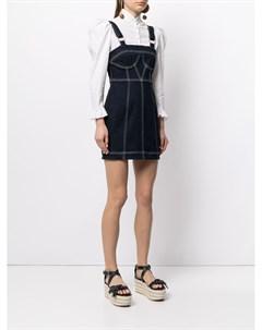 Джинсовое платье мини с контрастной строчкой Alice mccall