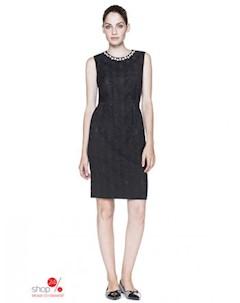 Платье цвет черный United colors of benetton