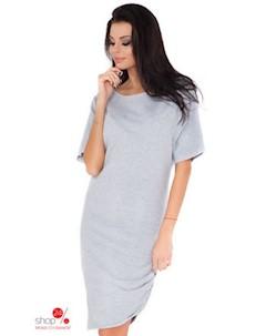 Платье цвет светло серый Rawear